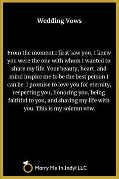 Wedding Ceremony, Our Wedding, Dream Wedding, Wedding Stuff, Wedding Vows Examples, Wedding Ideas, Marriage Promises, Universal Life Church, I Love You Pictures
