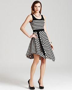 DKNY Striped Dress | Bloomingdale's