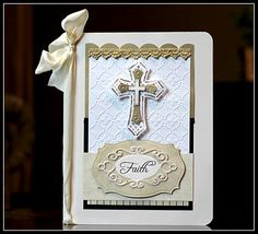 Another card with Spellbinders Crosses Two