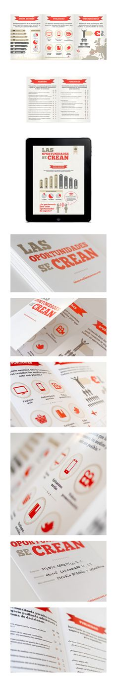 "Brochure for the motivational campaign commercial ""Las oportunidades se crean."""