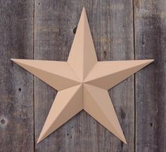 53 Inch Heavy Duty Metal Barn Star Painted Solid Tan The Solid Paint Coverage Gives the Star a Clean and Crisp Appearance This Tin Barn Star Measures Approximately 53 From Point to Point Left to Right The Barnstar Is Hand Crafted Out of 22 Gauge Galvanized Steel By the Old Order Amish From Central Ohio This Size Star Will Arrive in 5 Separate Wings One Tagged on the Back for Easy Hanging and Will Require Quick and Easy Assembly The Screws Are Provided and Painted to Match so They Are Not…