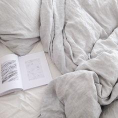 Linen bedding misty grey | By Mölle
