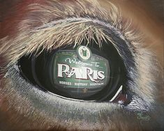 """Here's a little commission job for the city clerk of Paris,Ky, Ms. Stephanie Settles. A really nice lady. It is titled """"Insight of Paris"""" and is taken from another painting that I did two years ago! Insight to Glory! This one has a lot more meaning for the people of Paris Ky."""