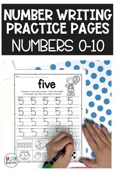 Number writing practice for numbers 0-10! These simple, no-prep worksheets come with 3 different versions to choose from. These trace and write number writing practice pages can be used whole-group, in a small group, independently, or as homework. There is also a special component at the bottom of each page for counting practice. Perfect for Kindergarten, Pre-K, TK, and homeschool.