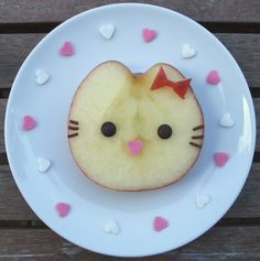 Cute Kitty - made from an apple!