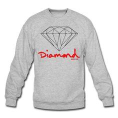 Diamond Supply Crewneck | Men's Crewneck Sweatshirt designed by ummricki | Spreadshirt | ID: 9732065