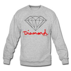Diamond Supply Crewneck   Men's Crewneck Sweatshirt designed by ummricki   Spreadshirt   ID: 9732065