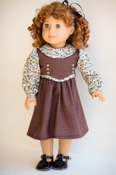 Vintage Fall/School Frock for American Girl by AnnasGirls