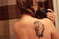 tatuajes, trenza, pelo, peinado