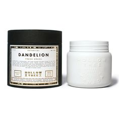 "From Hollow Tree 1871's ""Botanical"" collection, we introduce the ""Dandelion"" coconut wax candle -- available at Labrador Supply Co."
