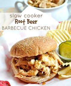 Slow Cooker Root Beer Barbecue Chicken on MyRecipeMagic.com
