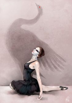 "Somewhat inspired by Sonata Arctica's ""Fly with the Black Swan."" Photoshop 2009 The Black Swan Black Swan Movie, Black Swan 2010, Natalie Portman, Swan Lake Ballet, Ballerina Art, Lake Art, Ballet Fashion, Sport, Art Pictures"