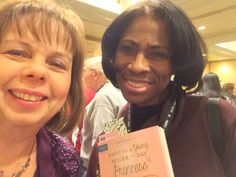 With friend Patricia Williams at Crossroads of LIfe in Hillside NJ