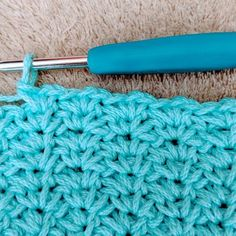 Crochet Waffle Stitch Washcloth | My Crochet Space