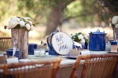 Camp Theme Outdoor Decorations | Rustic Campsite Wedding Inspiration - Elizabeth Anne Designs: The ...
