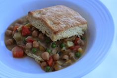 V e g a n D a d: Creamy Chickpeas and Biscuits