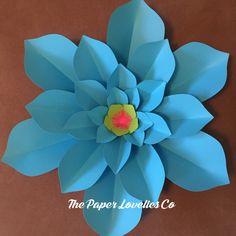 Bright neon blue Paper flower Lovelie