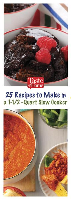 25 Recipes to Make in a Slow Cooker recipes - Slow cooker recipes - Crock Pot Recipes, Slow Cooker Recipes Cheap, Crockpot Recipes For Two, Crock Pot Desserts, Pressure Cooker Recipes, Soup Recipes, Crock Pots, Slow Cooking, Small Slow Cooker