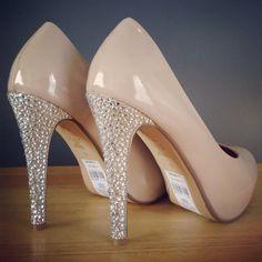 Crystal embellished heels on Etsy, £20.00 Www.facebook.com/kellysheaven Nude Crystal Heels