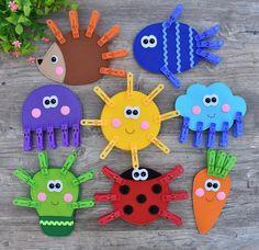 Felt Game PDF Pattern, Clothespin Game for kids, Felt Educat Kids Crafts, Summer Crafts For Kids, Toddler Crafts, Preschool Crafts, Diy For Kids, Easy Crafts, Toddler Preschool, Creative Crafts, Educational Games For Toddlers