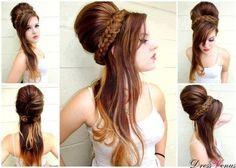 Beautiful Style :D #hair #updo #longhair #bun  - bellashoot.com