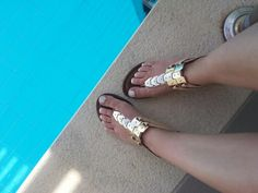 Love the sandals from Dubai