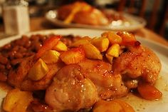 Baked Peach Ginger Chicken http://www.momspantrykitchen.com/baked-peach-ginger-chicken.html