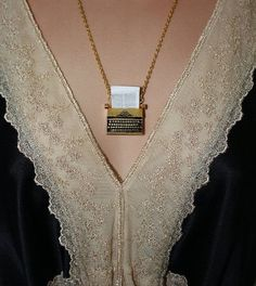 """The Writer"" - Gold plated typewriter necklace 