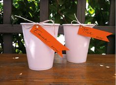 Decoracion o identificador para vasos de papel o telgopor