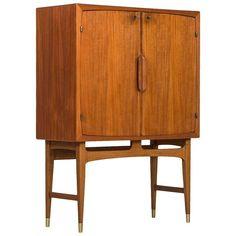 Torbjørn Afdal Bar Cabinet Model Bacchus Produced by Mellemstrands Møbelfabrik Norway ca.1960's