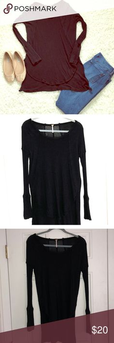 Womens Free People Black Dolman Top Size Small Womens Free People Black Dolman Top Size Small! Pics don't do the black justice, this is a Dolman top with tons of room & is so comfortable! No flaws worn twice! Free People Tops Blouses