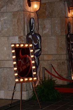 Great frame for entrace of Hollywood party.