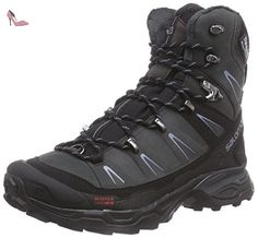 Salomon  X Ultra Winter CS WP, Chaussures de trekking et randonnée femme - Noir - Schwarz (Asphalt/Black/Stone  Blue), 41 1/3 - Chaussures salomon (*Partner-Link)