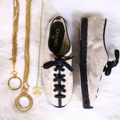 Spotted while shopping on Poshmark:  Chanel Iconic Espadrilles! #poshmark #fashion #shopping #style #CHANEL #Shoes