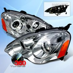 02-04 Acura RSX Halo Projector Headlights, with Xenon HID Lighting System - (Chrome)