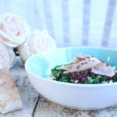 Kyllingsalat med quinoa og mango