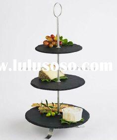 3 tier slate cheese server