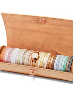 Fossil Georgia Three-Hand Leather Watch Set in our fresh Spring 15 palette.