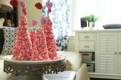 Creative And Beautiful Valentine Day Tree Craft Ideas With Valentines Day Cupcake Liner Trees