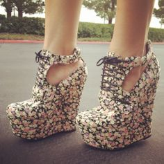 Have you checked out these? Garden Party Wedge Booties