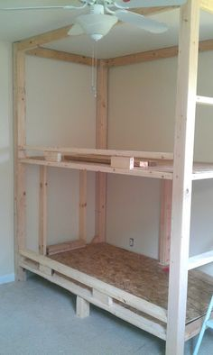 """Get wonderful ideas on """"bunk beds for kids"""". They are actually accessible for yo. - Get wonderful ideas on """"bunk beds for kids"""". They are actually accessible for you on our web si - Bunk Bed Rooms, Bunk Beds Built In, Bunk Beds With Stairs, Kids Bunk Beds, Building Bunk Beds, Built In Beds For Kids, Bedrooms, Bunk Bed Plans, Murphy Bed Plans"""