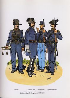 PLATES- CMH: 2nd US Cavalry Regiment, 1858-1861, by Frederick F. Todd.
