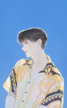 Handsome Anime Guys, Cute Anime Guys, Manga Art, Manga Anime, Anime Art Fantasy, Korean Art, Anime Poses, Boy Art, Art Reference Poses