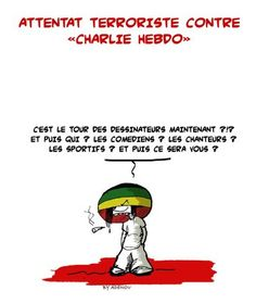 Charlie Hebdo: les dessinateurs marocains et tunisiens rendent hommage aux victimes ...reépinglé par maurie daboux