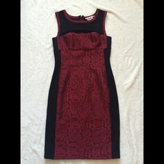 Yoana Baraschi Form Fitting Red Dress Amazing red and black fitted dress. Bought from neiman Marcus for an event and never got to wear. Originally paid $350+. Yoana baraschi Dresses Midi