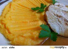 Smetanova bramborova kase s bataty recept - TopRecepty. Camembert Cheese, Mashed Potatoes, Pineapple, Dairy, Fruit, Ethnic Recipes, Food, Whipped Potatoes, Smash Potatoes