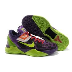 Famous Nike Zoom Kobe 7 VII System Supreme Purple/Black-Volt-Red Men