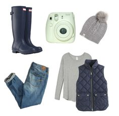 """Untitled #307"" by abbey-mccracken on Polyvore featuring J.Crew, UGG Australia, American Eagle Outfitters and Hunter"