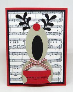 Singing reindeer card