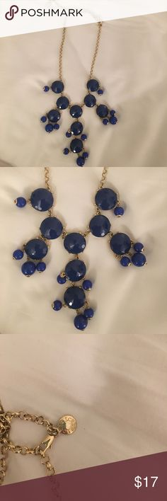 J. Crew navy blue bubble necklace Great condition Jewelry Necklaces
